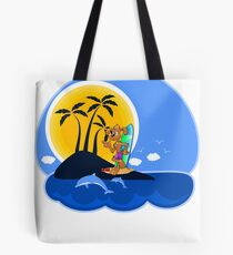 Summer Time Pup Tote Bag