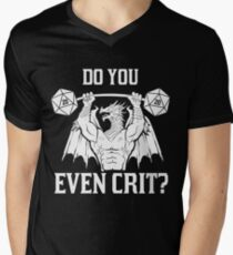 Ancient Swole'd Dragon - Do You Even Crit? Men's V-Neck T-Shirt