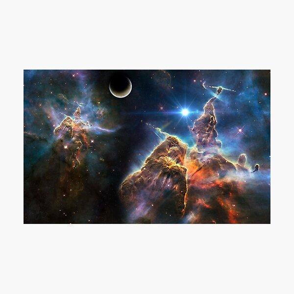 Big Bang, ♀, ⊕, ♂, Jupiter, Saturn,   ♄, Uranus, ♅, Neptune, ♆, Pluto Photographic Print