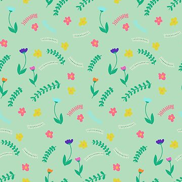 Spring Florals (Mint Green) by catalinav