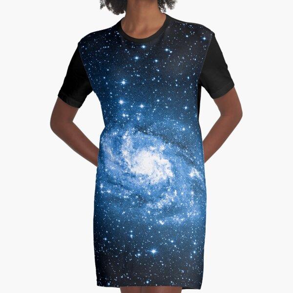 Milky Way, Nebula, Parallax, Moon, Sun, Mercury, Venus, Earth Graphic T-Shirt Dress