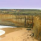 Gigantic cliffs along the Great Ocean Road  by cjcphotography