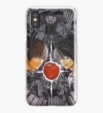 light yagami and L death note iPhone Case/Skin