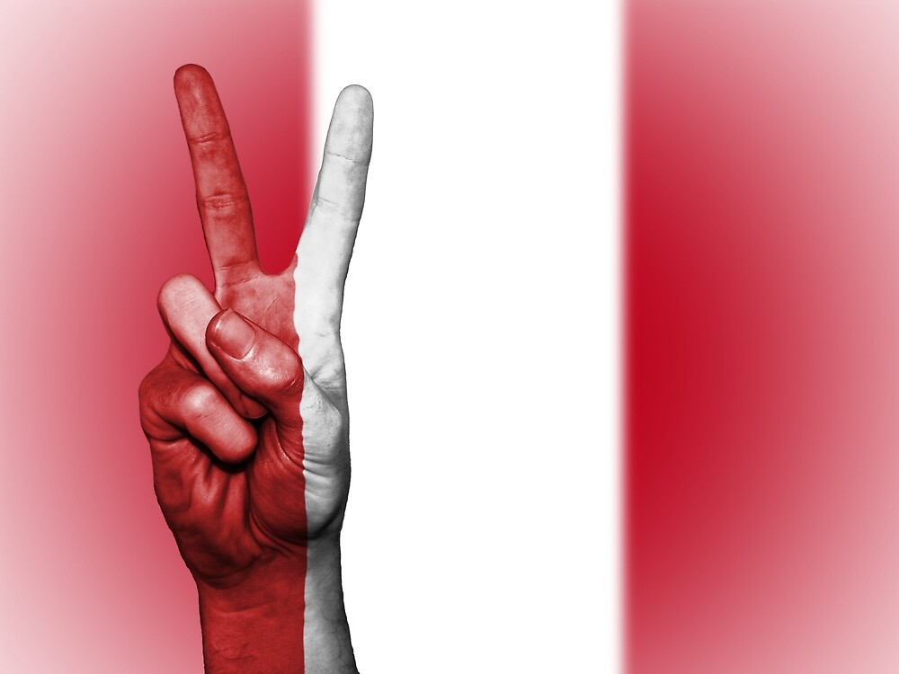 Peru Fingers Flag by PRODUCTPICS