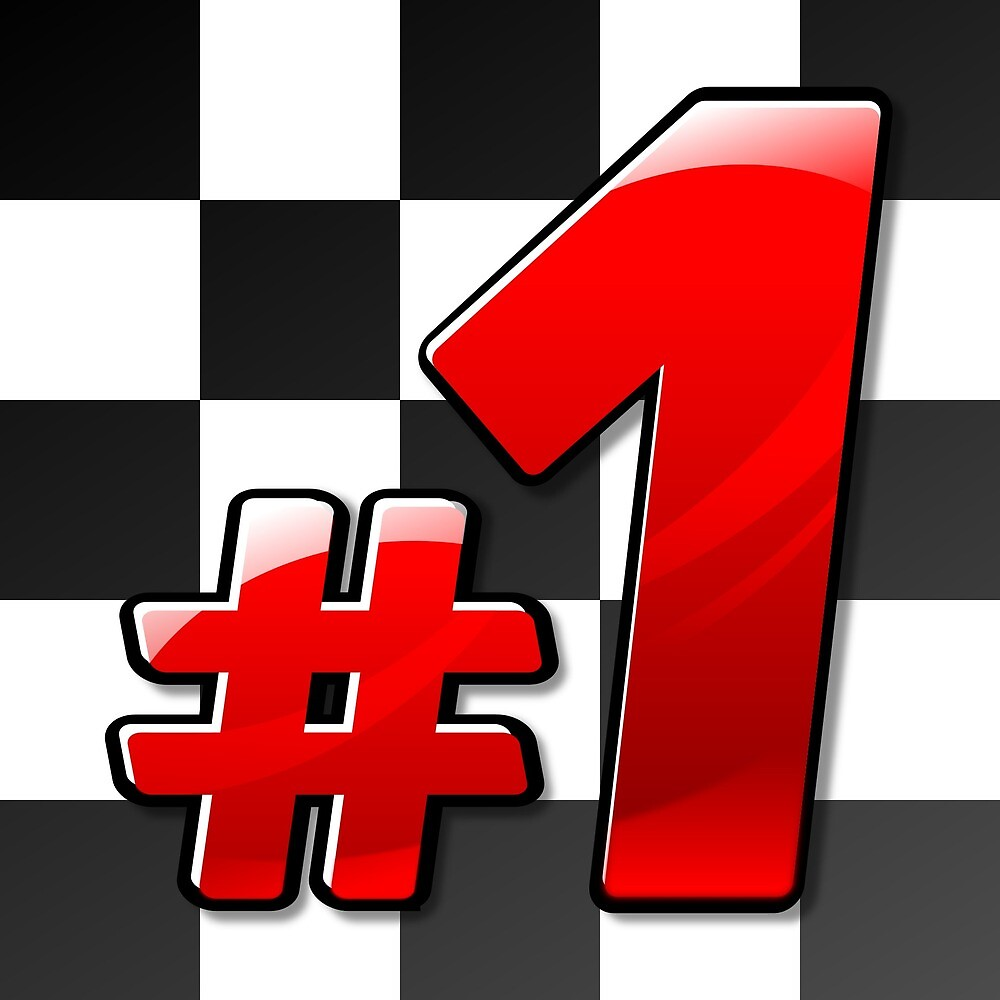 Number 1 Formula Rally Flag by PRODUCTPICS