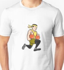 Crossfit Runner With Kettlebell Cartoon T-Shirt