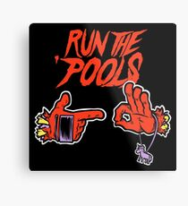 Run the 'Pools Metal Print