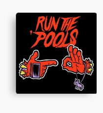 Run the 'Pools Canvas Print