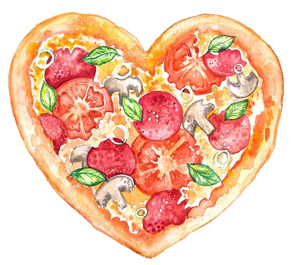 pizza is love by MARIYA VASHCHENKO