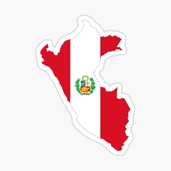 Bandera del Continente del Perú Pegatina