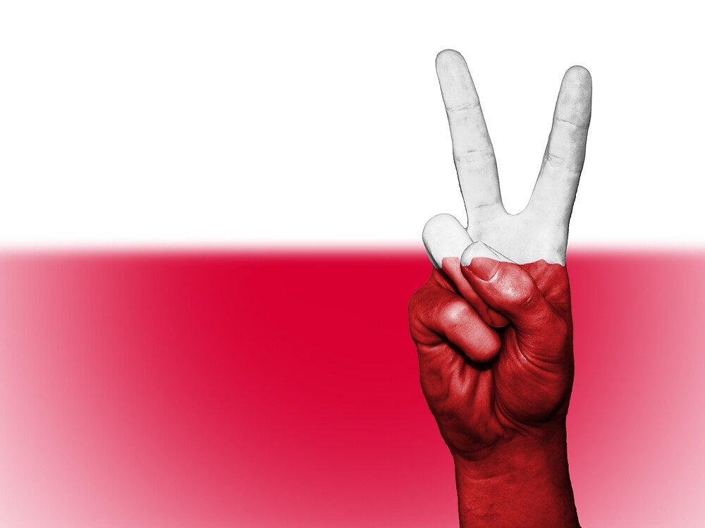 Poland Fingers Flag by PRODUCTPICS
