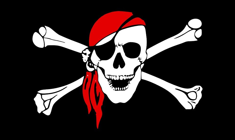 Bones and Skull Pirate Flag by PRODUCTPICS