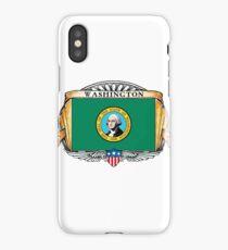 Washington Art Deco Design with Flag iPhone Case/Skin