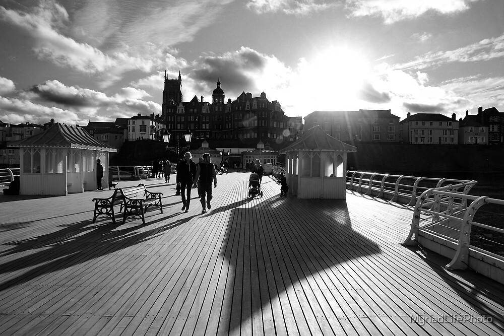 Cromer Pier Black and White by MyriadLifePhoto