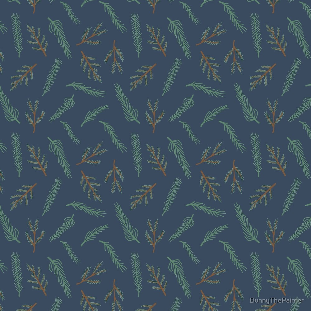 A Walk In The Pine Forest Pattern by BunnyThePainter