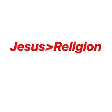 Jesus>Religion by Shadowman999