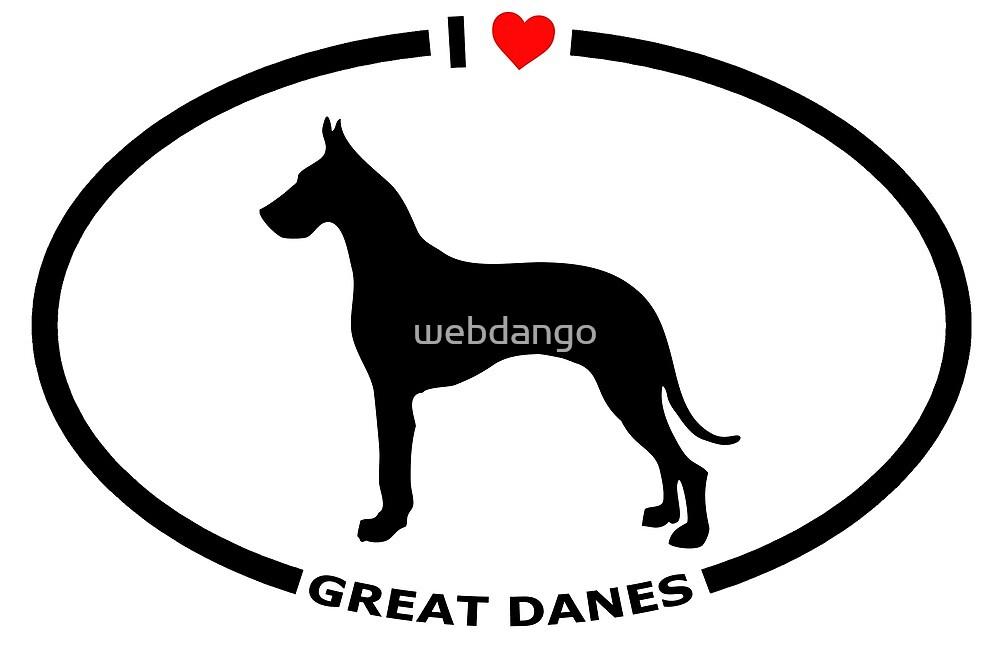 I Heart Great Danes  by webdango