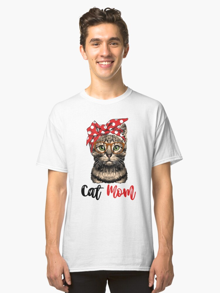 Cat-Mom Classic T-Shirt Front