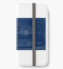 MG TC Blueprint Diagram iPhone Wallet/Case/Skin