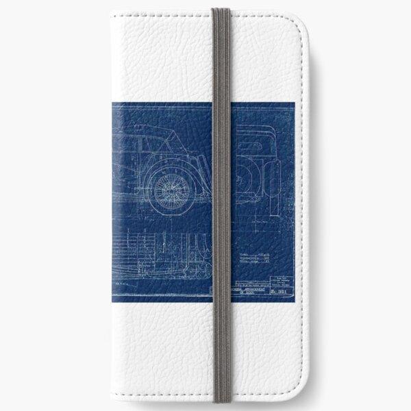 MG TC Blueprint Diagram iPhone Wallet