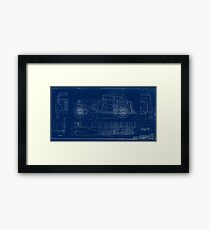 MG TC Blueprint Diagram Framed Print