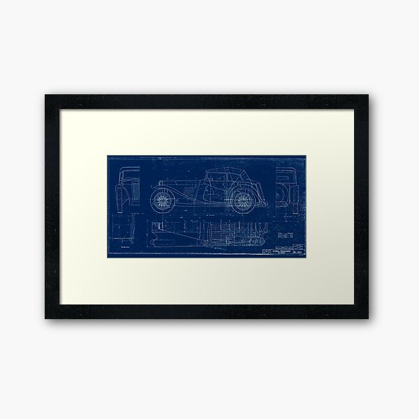 MG TC Blueprint Diagram Framed Art Print