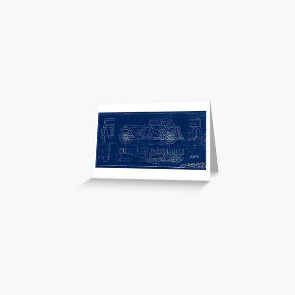 MG TC Blueprint Diagram Greeting Card