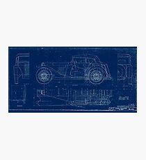 MG TC Blueprint Diagram Photographic Print