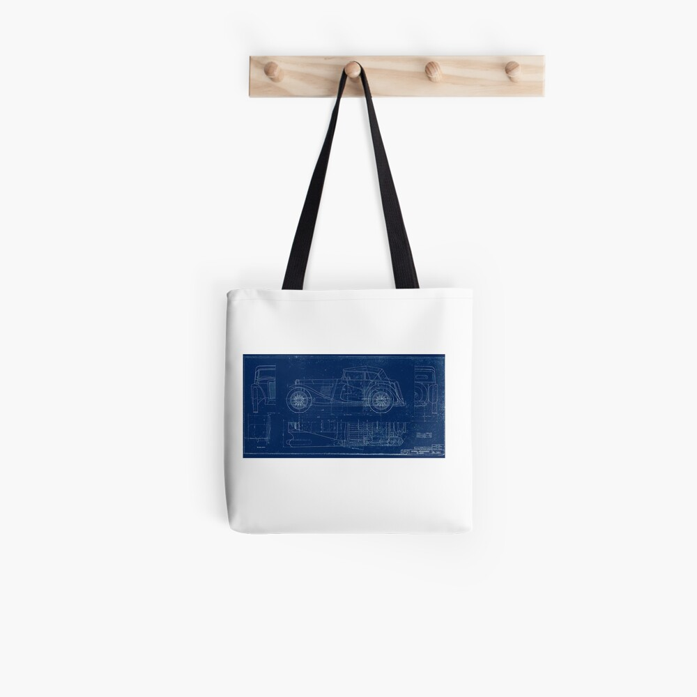MG TC Blueprint Diagram Tote Bag