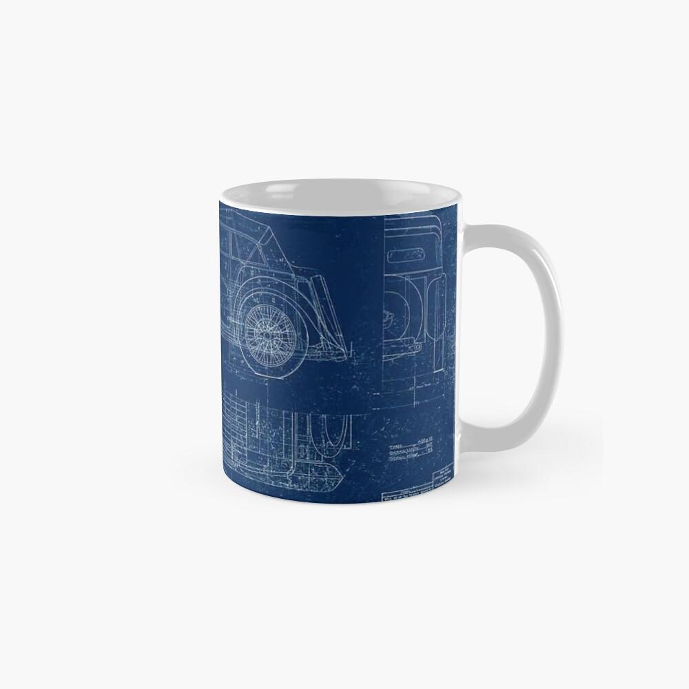 MG TC Blueprint Diagram Mug