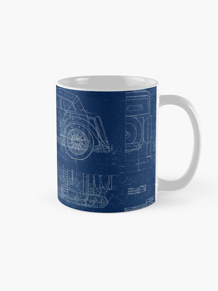 Alternate view of MG TC Blueprint Diagram Mug