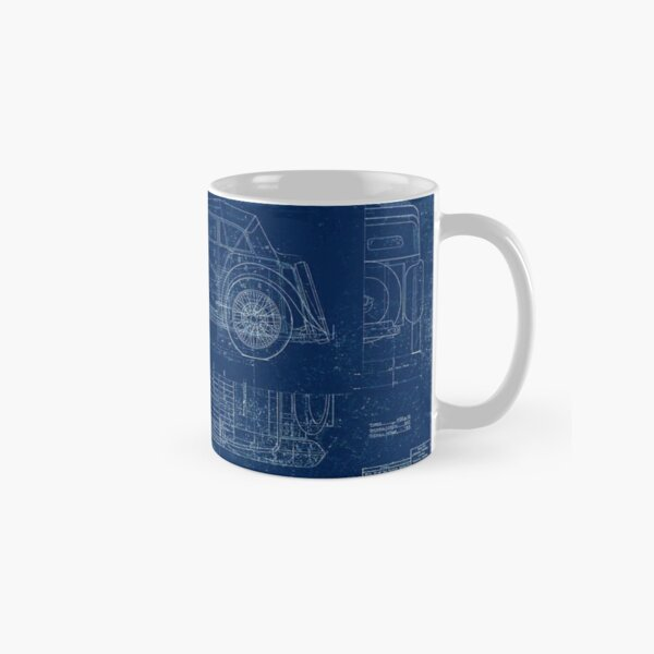 MG TC Blueprint Diagram Classic Mug