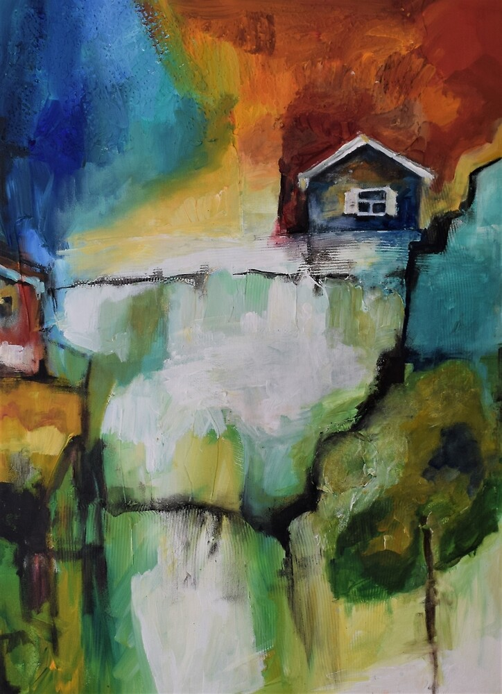 House on a hill by ginaleon
