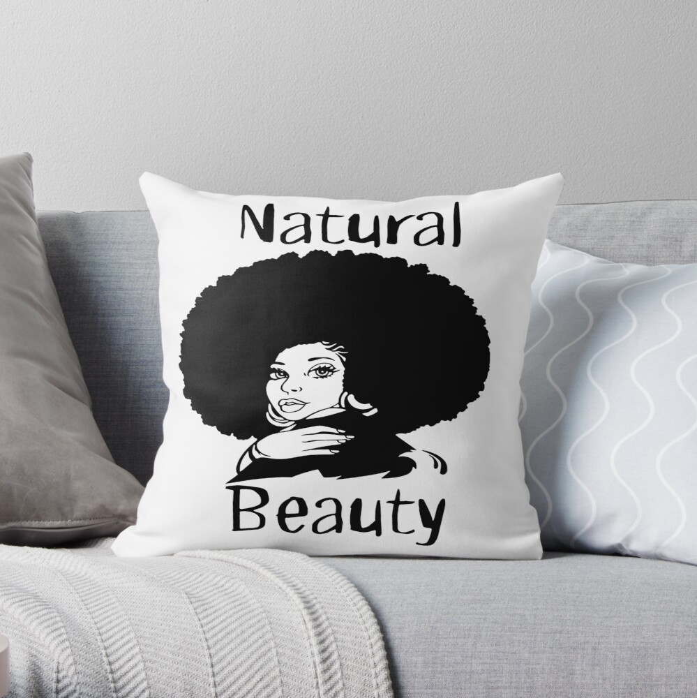 Natural Beauty Tee Throw Pillow