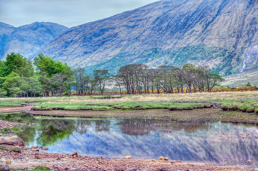 Glencoe Scottland - Mt. And Eeflection by Susan Dost