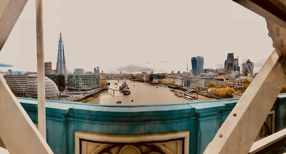 London View from Tower Bridge by cristinaa16