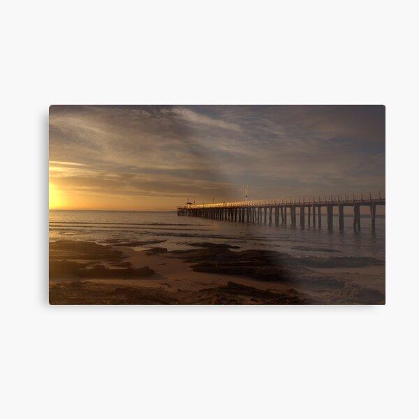 Sunlit Pier Metal Print