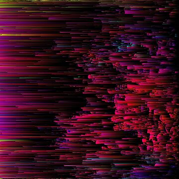 Speeding Neon - Abstract Glitchy Pixel Art by InsertTitleHere
