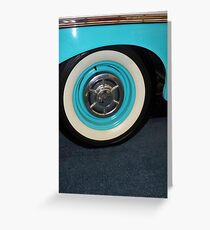 1958 Chevrolet Del Ray White Wall Tire Greeting Card