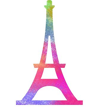 Paris Eiffel Tower Splash Color Art by MyShirtHub