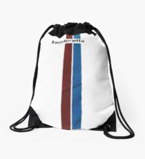 Lambretta red and blue stripes Drawstring Bag
