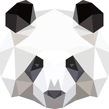 Low poly vector panda by dynamitfrosch