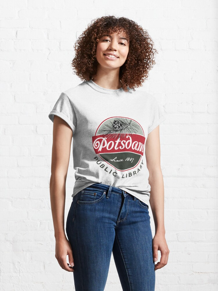 Alternate view of Potsdam Public Library Logo Classic T-Shirt