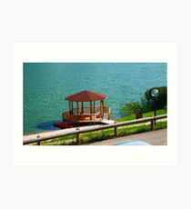 Gazebo on the Lake Art Print
