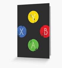 Pushing Buttons // Xbox Greeting Card