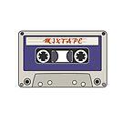 Mixtape Vintage Cassette Tape by DarinaDrawing