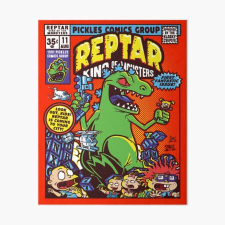 Reptar King of the Monsters Art Board Print
