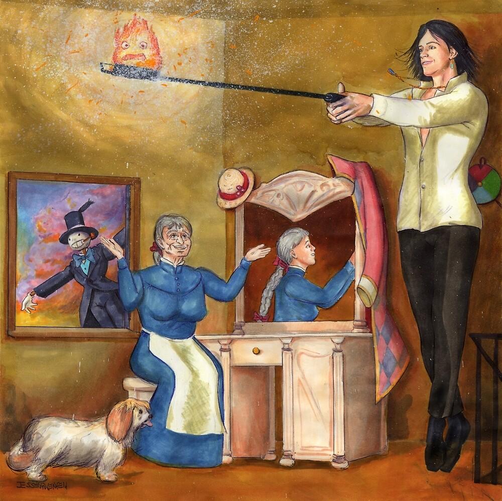Calcifer Sparks - Howl's Moving Castle by Jesse Rubenfeld