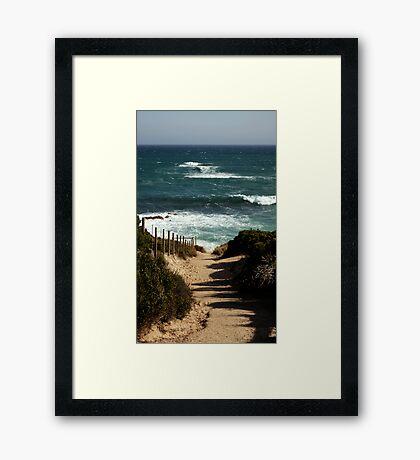 Koonya Ocean Beach,Mornington Pennisula Framed Print