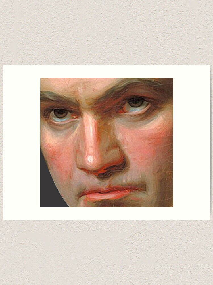 Alternate view of Beethoven in frightening close-up Art Print